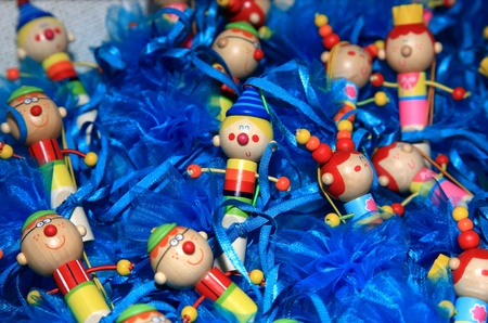 clowns toys favor on a christening party Stock Photo - 11276988