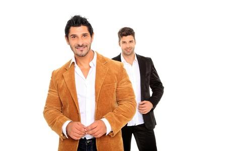 two happy business man portrait Stock Photo - 11546167