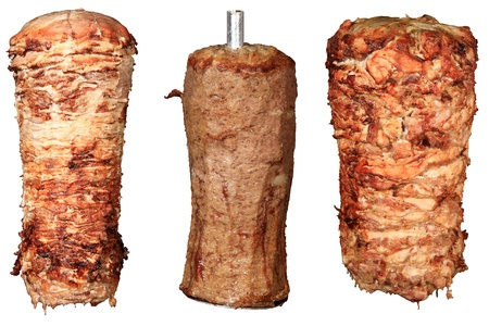 mix of kebab and donner isolated on a white background