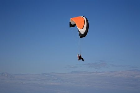 paramotor glider flyes in the air Stock Photo - 13925921
