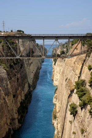 arkadia: corinthos canal water passage grecce