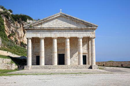 grec antique: magnifique temple grec antique ? Corfou, Gr?ce