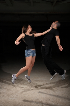 martial arts female instructor exercising with young man Stock Photo - 17221250