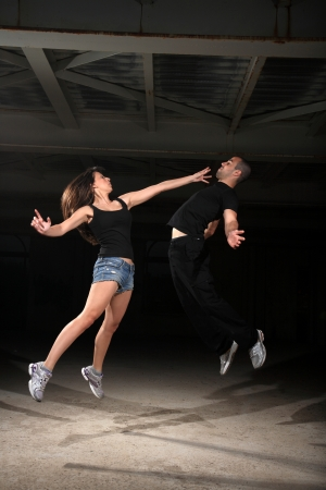 martial arts female instructor exercising with young man Stock Photo - 17221260