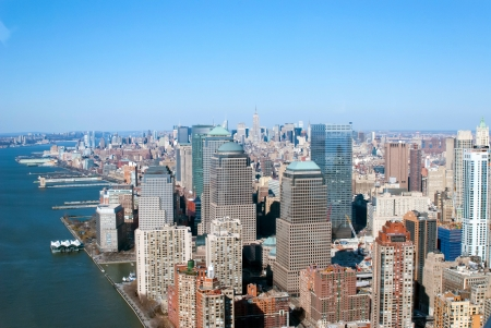 aerial view of new york city photo