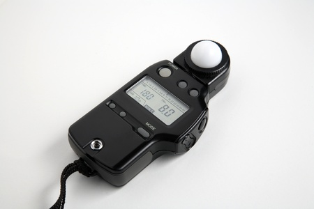 light meter device on a white background
