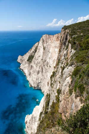 very high cliff and beautifull blue sea  photo