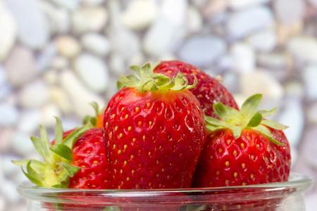 strawberies: closeup of fresh strawberries on a pot