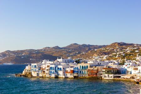 little venice in mykonos island,Greece photo