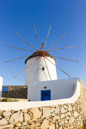 traditional windmill: old traditional windmill in Mykonos island,Greece