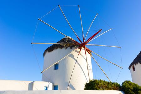 traditional windmill: old traditional windmill in the town of Mykonos island,Greece