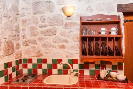 luxury apartment: interior of a luxury stone apartment