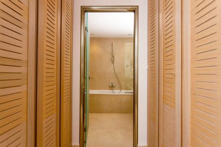 luxury bathroom: Bathroom interior of a luxury room in a hotel Stock Photo