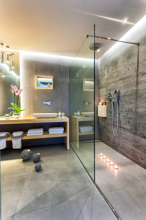 bathroom interior of a luxury room in a hotel