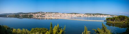 kefallonia: Panoramic view of lixouri town in Kefallonia island