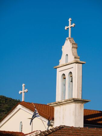 ionio: part of church in Ithaca island in Greece