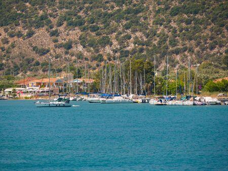 ionio: sailing boats in Ithaca island in Greece