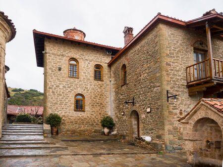 kalabaka: monastery in meteora  on top of the mountain in north Greece, Kalabaka