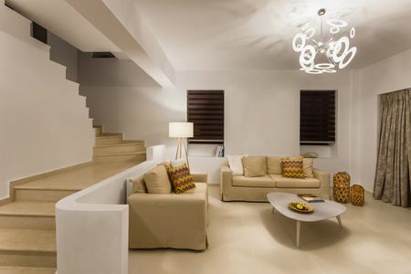 luxury apartment: interior of a luxury apartment with decoration