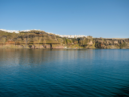 santorini island: Santorini island in cyclades of Greece