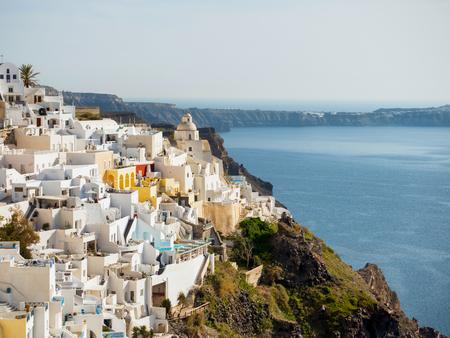 firostefani: Santorini island in cyclades of Greece