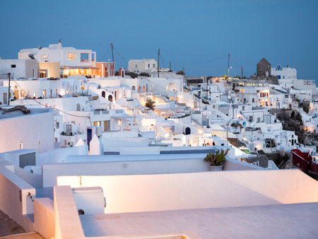View of Oia in Santorini island in Cyclades,Greece