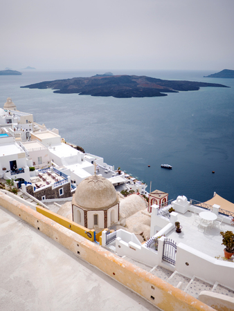 Panoramic view of the volcano of Santorini island in Cyclades,Greece