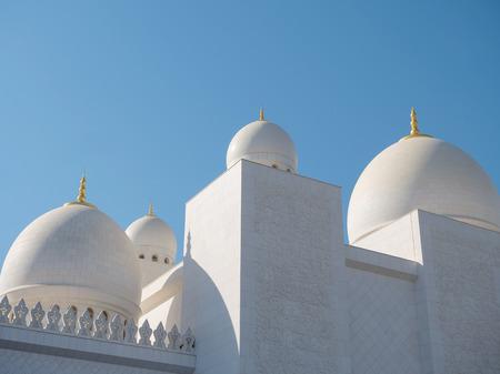 The beautiful Sheikh Zayed Grand Mosque in Abu Dhabi