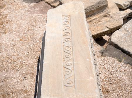 Ruins of an ancient Roman theatre in Milos island, Greece