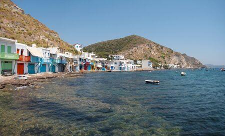 Traditional fishing village Klima in Milos island, Greece