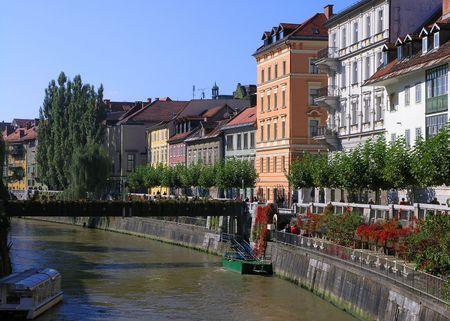 Flowing trough Ljubljana photo