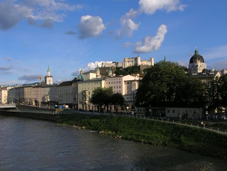 salzach: View of Salburgs castle