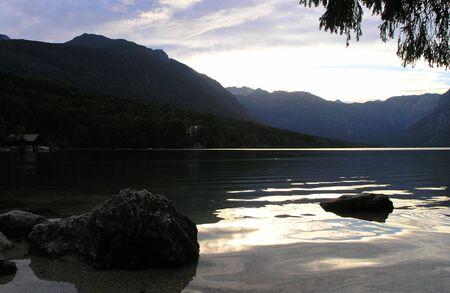 bohinj: View of lake Bohinj in Slovenia Stock Photo
