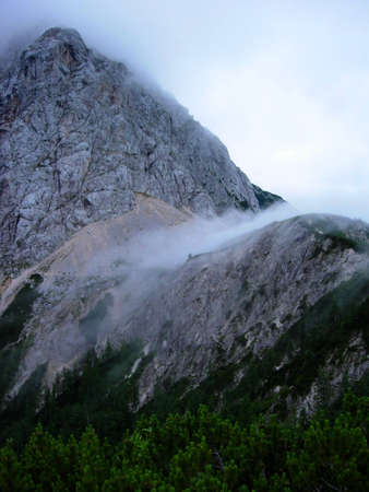 A view of Triglav mountains in Slovenia photo