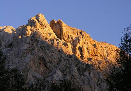 View of Triglav mountains in Slovenia Stock Photo - 416584