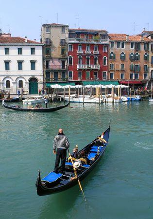venice italy: Gondolas in Venice, Italy