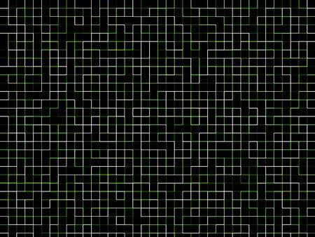 interlinked: Neon matriz de la red verde y con l�neas blancas sobre fondo negro