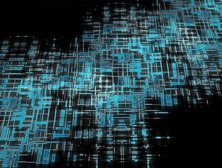 Abstract blue grid in space photo