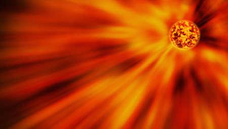 asymmetry: Red star sending light into space