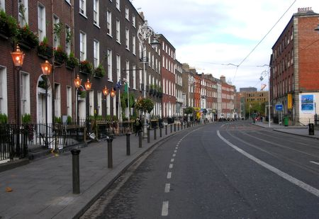 Urban view of the center of Dublin city, Ireland photo