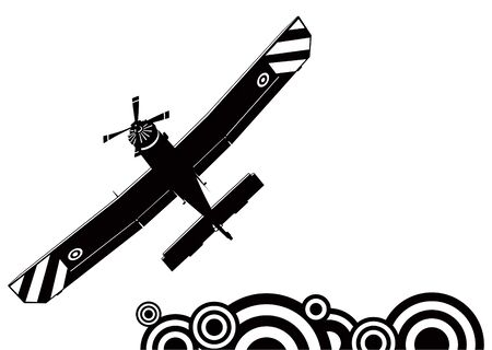 A small plane silhouette Vector