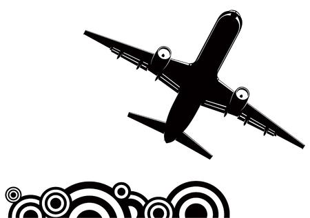 Jetliner silhouette Vector