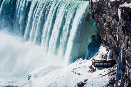 冬のナイアガラの滝。