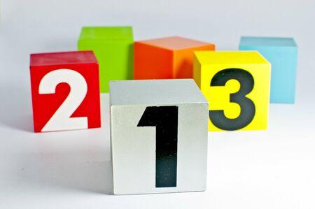 Simple, one two three Standard-Bild