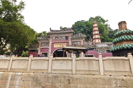 A-Ma Temple at Macau, built in 1488, the temple is dedicated to Matsu, the goddess of seafarers and fishermen