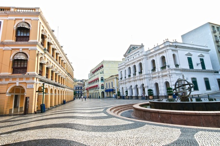 gambling stone: The Senado Square or Senate Square is a paved area in the centre of the former Portuguese colony of Macau, China Editorial