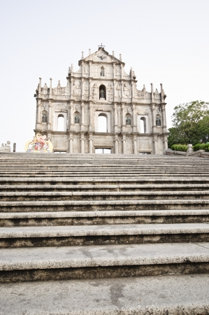 Ruins of St  Paul s Cathedral at Macau Stock Photo - 16326192