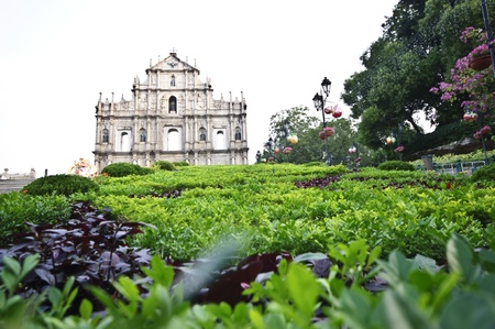 Ruins of St  Paul s Cathedral at Macau Stock Photo - 16326195