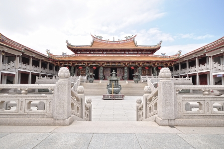 Tian Hou temple in Macau was built in 2001 in the Qing Dynasty style photo