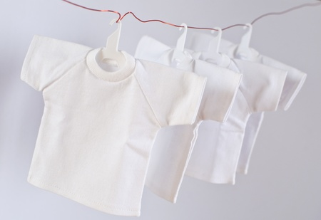 Dry t-shirts with coat hanger photo